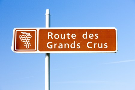 crus: wine route, Burgundy, France Stock Photo