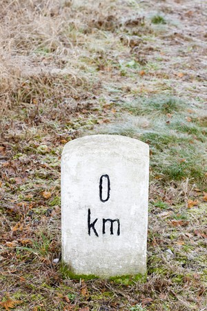 chilometro: zero chilometro Archivio Fotografico
