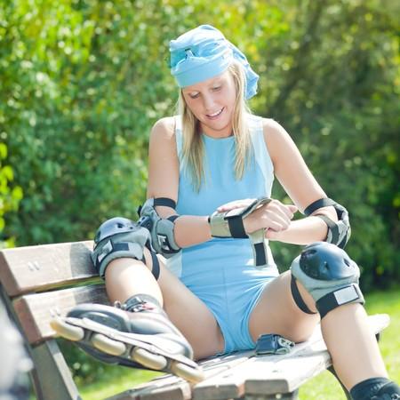 rollerblading: patinador en línea