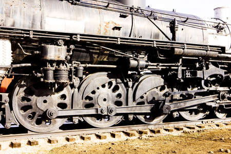 colorado railroad museum: detail of steam locomotive, Colorado Railroad Museum, USA