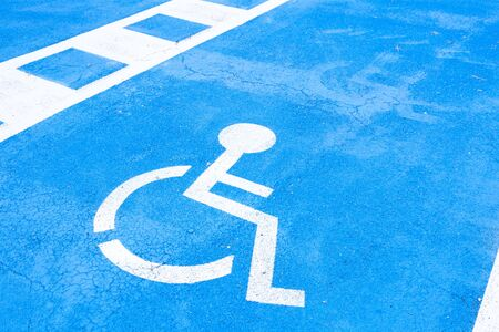 paraplegic: place reserved for disabled people Stock Photo