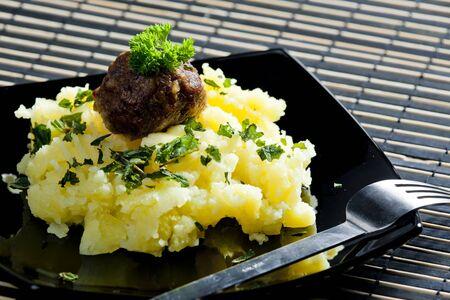 carne macinata: palline di carne macinata con pur� di patate