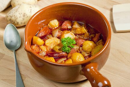 goulash: potato and sausage goulash