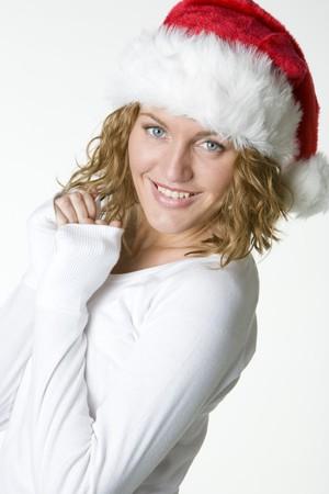 festival moments: womans portrait - Santa Claus