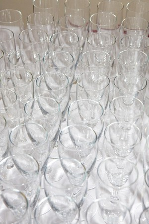festival moments: wineglasses Stock Photo