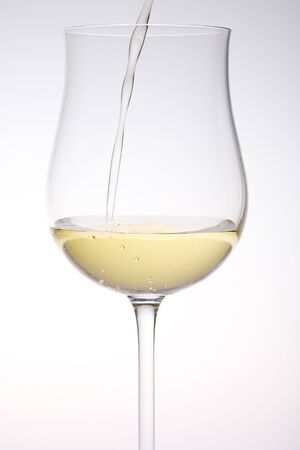 still lifes: wineglass with white wine Stock Photo