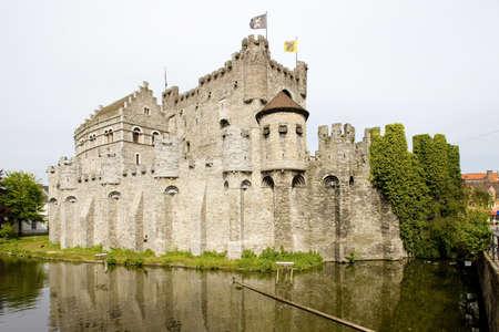 flanders: castle, Gravensteen, Ghent, Flanders, Belgium