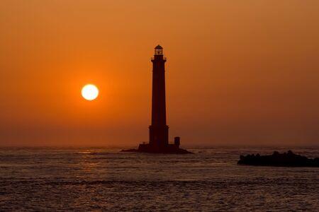 auroral: lighthouse, Cap de la Hague, Normandy, France