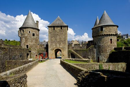 buidings: Fougeres, Brittany, France Stock Photo