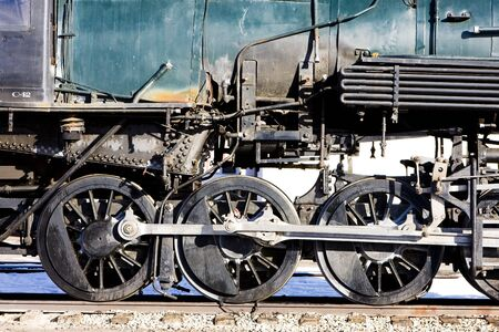 detail of steam locomotive, Alamosa, Colorado, USA Stock Photo - 8134448