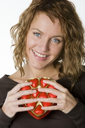 festival moments: womans portrait with chocolate
