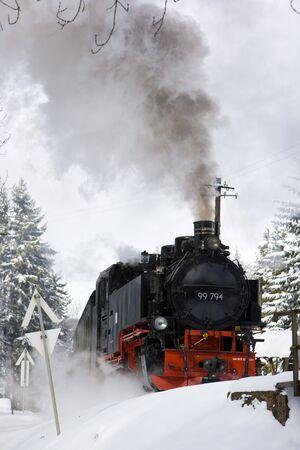 steam locomotive, Oberwiesenthal - Cranzhal (Fichtelbergbahn), Germany photo