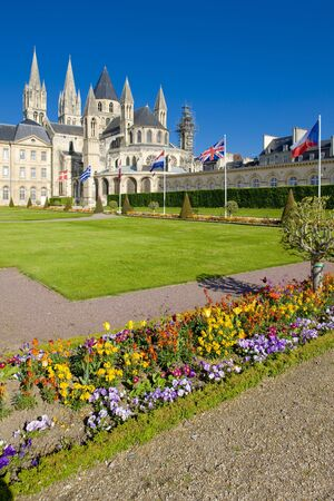 friaries: church of Saint Étienne, L´Abbaye Aux Hommes, Normandy, France Stock Photo