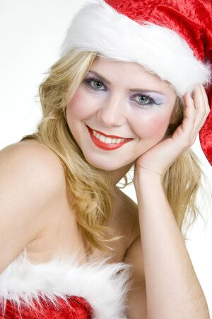 woman''s portrait - Santa Claus Stock Photo - 8217744