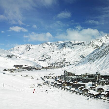 val: Val Claret, Tignes, Alps Mountains, Savoie, France Stock Photo