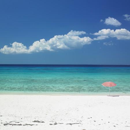 sunshades: sunshade, María la Gorda Beach, Pinar del Río Province, Cuba