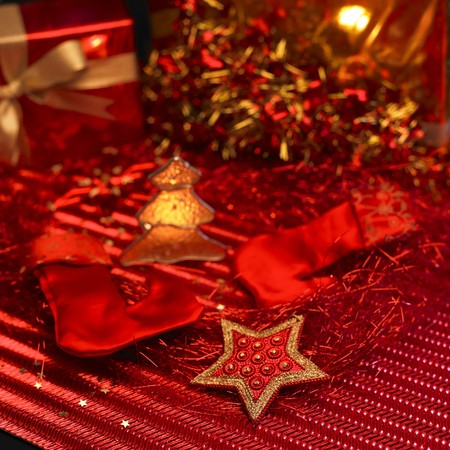 festival moments: Christmas still life Stock Photo