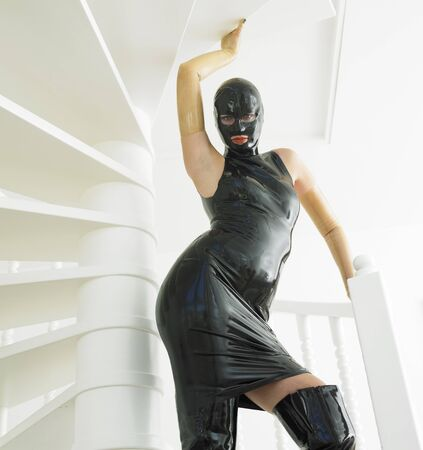 extravagancy: woman in latex