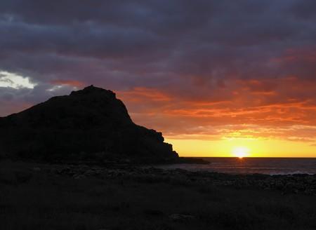 sunset, Giant''s Causeway, County Antrim, Northern Ireland Stock Photo - 8217240