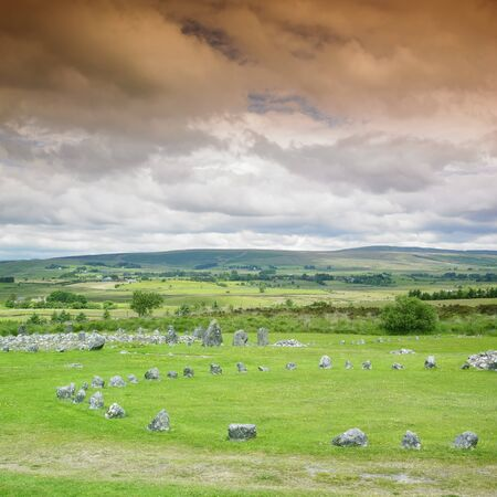 stone circles, Beaghmore, County Tyrone, Northern Ireland Stock Photo - 8218217