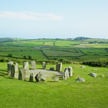 neolithic: Piedra de Drombeg Circle, Condado de Cork, Irlanda