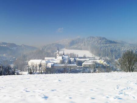 friaries: monastery, Vyssi Brod, Czech Republic Stock Photo
