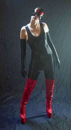 woman in latex photo