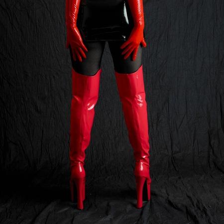 latex boots photo