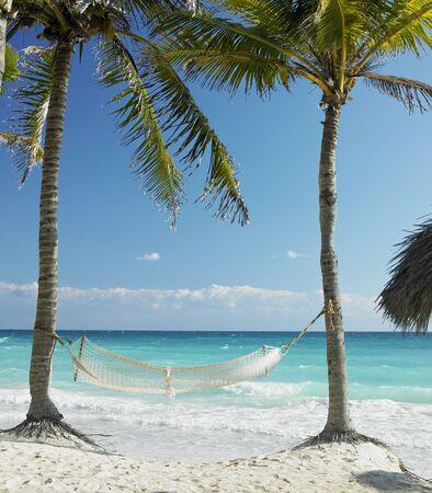 deserted: on the beach, Cayo Coco, Cuba Stock Photo