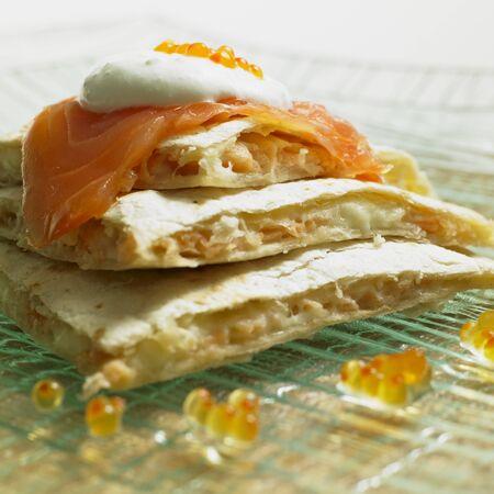 saumon fum�: Quesadilla avec saumon fum�