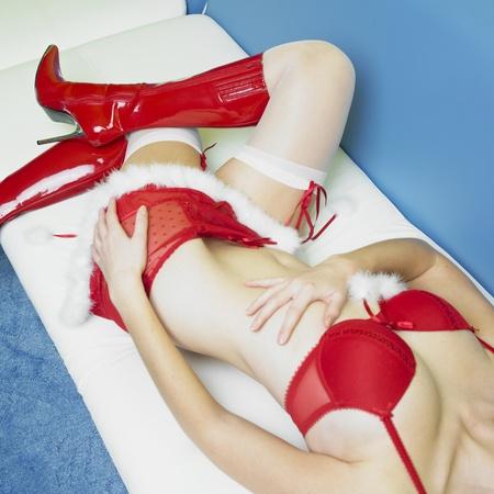 Christmas lingerie photo