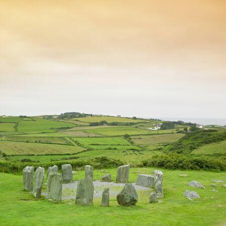 steencirkel: Drombeg Stone Circle, County Cork, Ierland