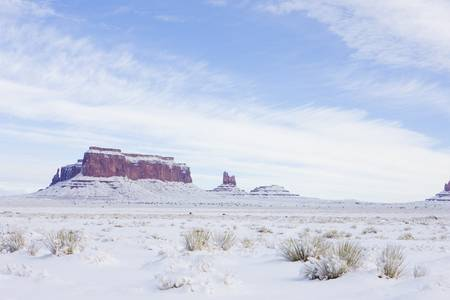 Monument Valley National Park in winter, Utah-Arizona, USA photo