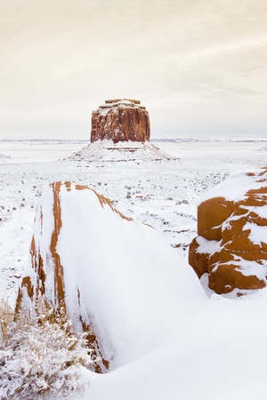 butte: wintr Merrick Butte, Monument Valley National Park, Utah-Arizona, USA