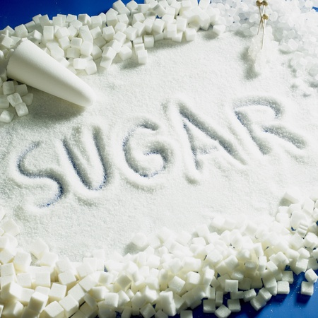 sugar cube: sugar still life