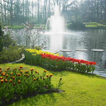 waterleiding: Keukenhof tuinen, Lisse, Nederland