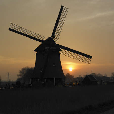windmill near Rustenburg, Netherlands photo