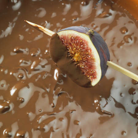 chocolate fondue photo