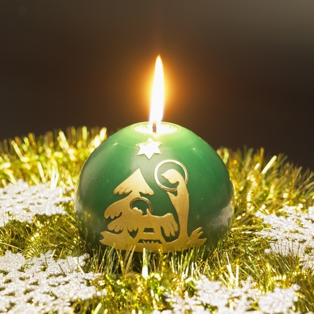 festival moments: Christmas candle