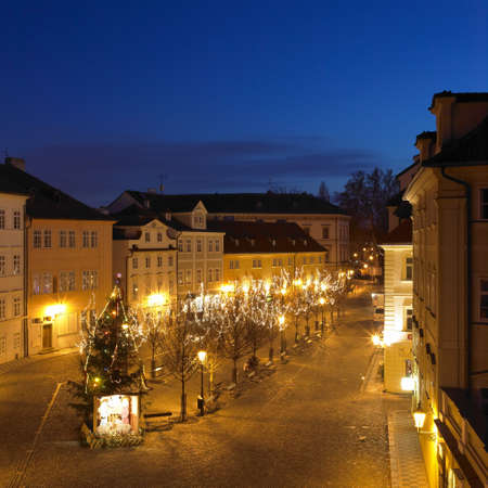 buidings: Kampa at night, Prague, Czech Republic