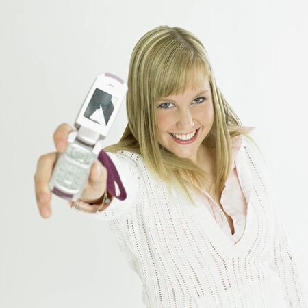 woman with a mobile phone Stock Photo - 8382432