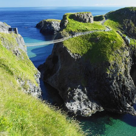 rope bridge: Carrick-a-rede Rope Bridge, County Antrim, Northern Ireland