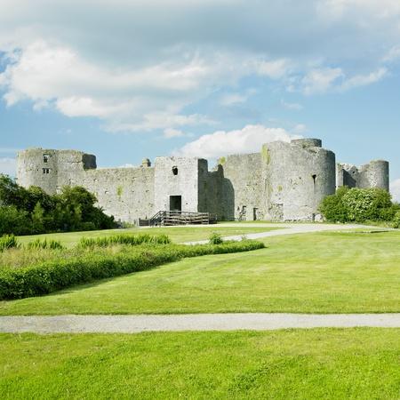buidings: ruins of Roscommon Castle, County Roscommon, Ireland Stock Photo