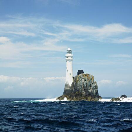 eire: lighthouse, Fastnet Rock, County Cork, Ireland Stock Photo