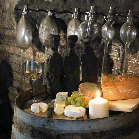 r�publique  tch�que: vin natures, cave de Biza, Cejkovice, R�publique tch�que Banque d'images