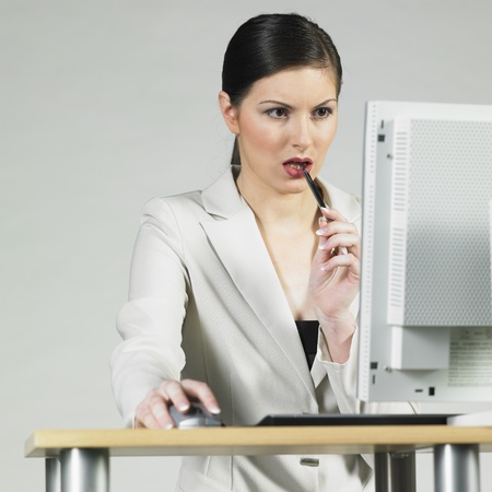 businesswoman at computer photo