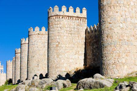castile leon: fortification of Avila, Castile and Leon, Spain Stock Photo