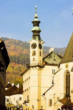 gildhalls: town hall, Banska Stiavnica, Slovakia