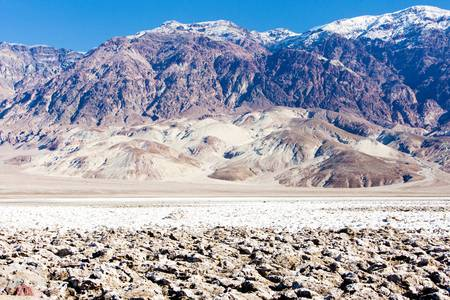 golf of california: Devil�s Golf Course, Death Valley National Park, California, USA Stock Photo