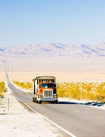 camion on road, California, USA photo